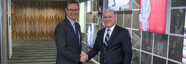 Tourism Australia Managing Director, John O'Sullivan and Chief Executive Officer Air New Zealand, Christopher Luxon