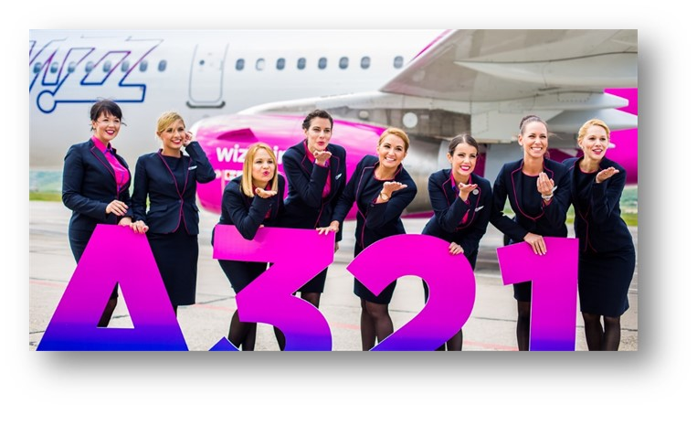 Wizz Air celebrates its first Bergamo flight operated with one of its brand new Airbus A321 aircraft