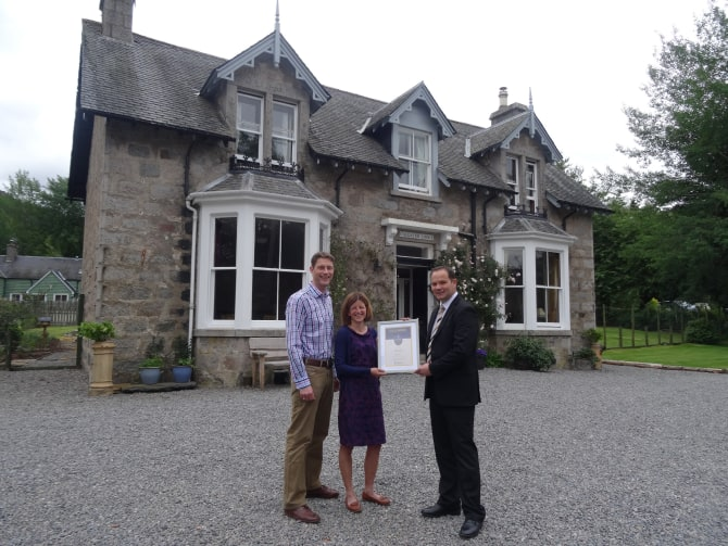 Callater Lodge in Braemar awarded 'Gold' status from VisitScotland