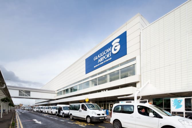 Glasgow Airport welcomed visiting passengers from Scotland's first direct air service with South Korea