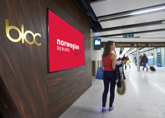 Norwegian Reward now gives members 12% CashPoints when booking any room at BLOC Gatwick