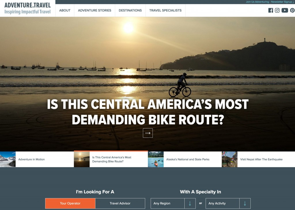 The Adventure Travel Trade Association launched the newly redesigned Adventure.Travel website