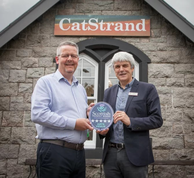 VisitScotland Regional Director Doug Wilson with Brian Edgar from The CatStrand