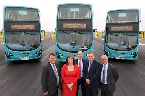 Upgraded bus service to and from Liverpool John Lennon Airport now connects travellers to busy rail station and bus interchange