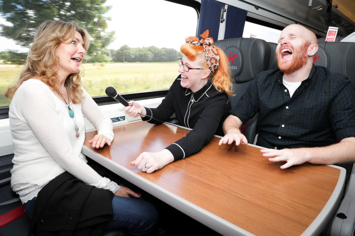 Virgin Trains to stage a one-off Comedy Coach on a newly refurbished King's Cross to Edinburgh service
