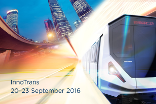 Visit Bombardier at InnoTrans 2016 Visit Bombardier at InnoTrans 2016 at Messe Berlin September 20 - 23 in Hall 2.2, stand 101.
