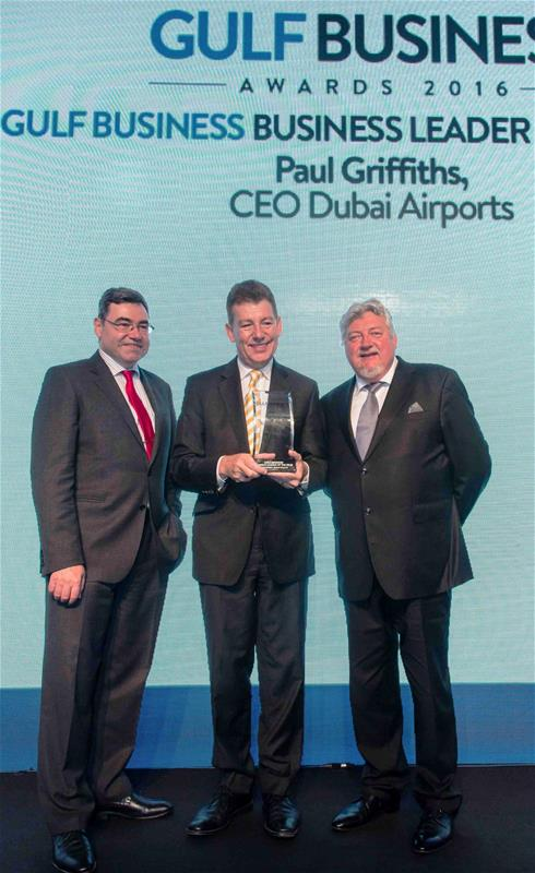 Dubai Airports' CEO Paul Griffiths named the Business Leader of the Year at Gulf Business Awards 2016