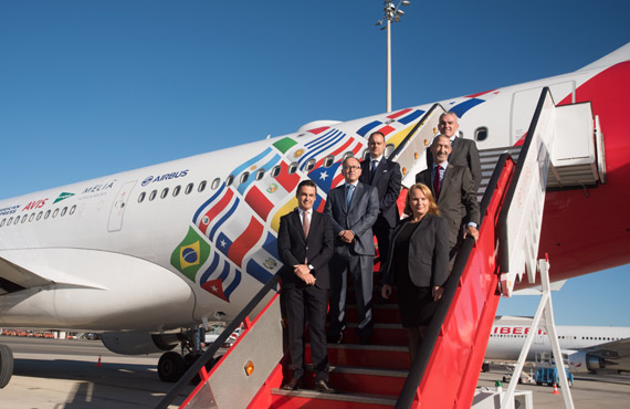 Iberia celebrates 70 years of service to Latin America with a special aircraft that will fly from Madrid to Buenos Aires