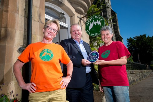 Jessie Mac's hostel in Birnam, Perthshire received VisitScotland's Five Star Quality Assurance Award