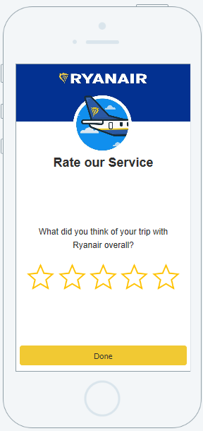 Ryanair launches improved 'Rate My Flight' service now available in 7 languages