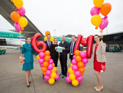 Shannon Airport celebrates its six millionth passenger through the airport since becoming an independent airport on January 1st, 2013