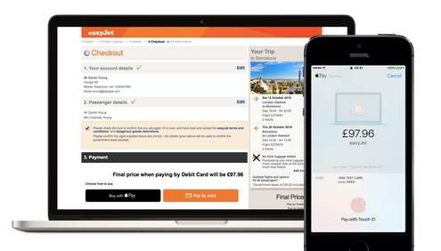 easyJet introduces Apple Pay on Web for bookings made on easyJet.com