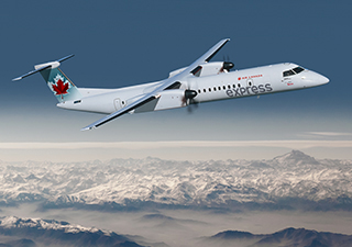 Bombardier Q400 aircraft in Air Canada Express' livery