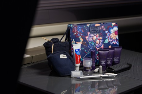 British Airways introduces Liberty London wash bags to customers flying in First