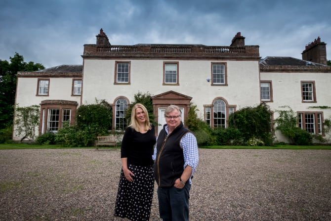 Linthill House in the Scottish Borders re-opened as self-catering holiday accommodation following extensive refurbishment