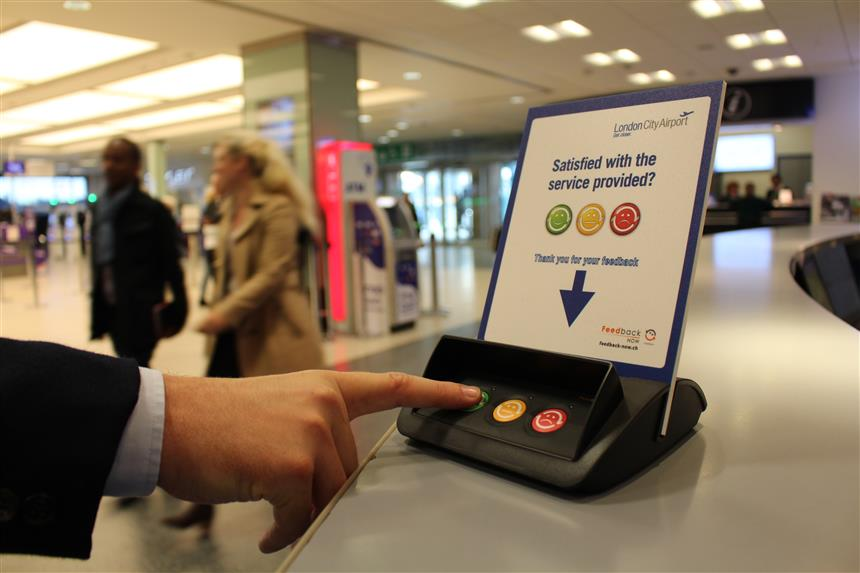 London City Airport introduces real-time Feedback Now system to improve passenger experience