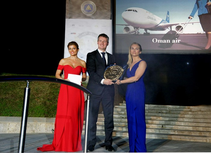 Oman Air awarded the Signum Virtutis seal of excellence at the Seven Stars Luxury Hospitality and Lifestyle Awards 2016
