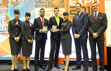 Qatar Airways Senior Vice President of Customer Experience, Mr. Rossen Dimitrov received the award on behalf of the airline