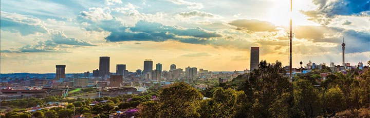 Enjoy the award-winning Business Class to South Africa's biggest metropolis Johannesburg.