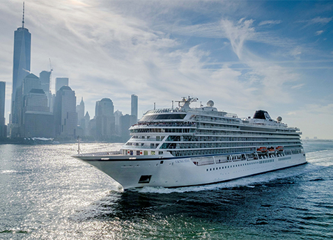 Viking Ocean Cruises welcomed Viking Star into the New York harbor as part of its inaugural North American voyage