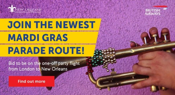 British Airways to auction a one-off VIP charter to New Orleans on eBay