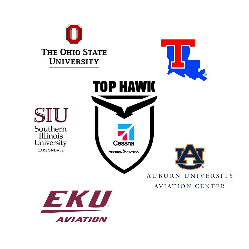 Cessna Aircraft Company announces university partners for the 2017 Top Hawk program