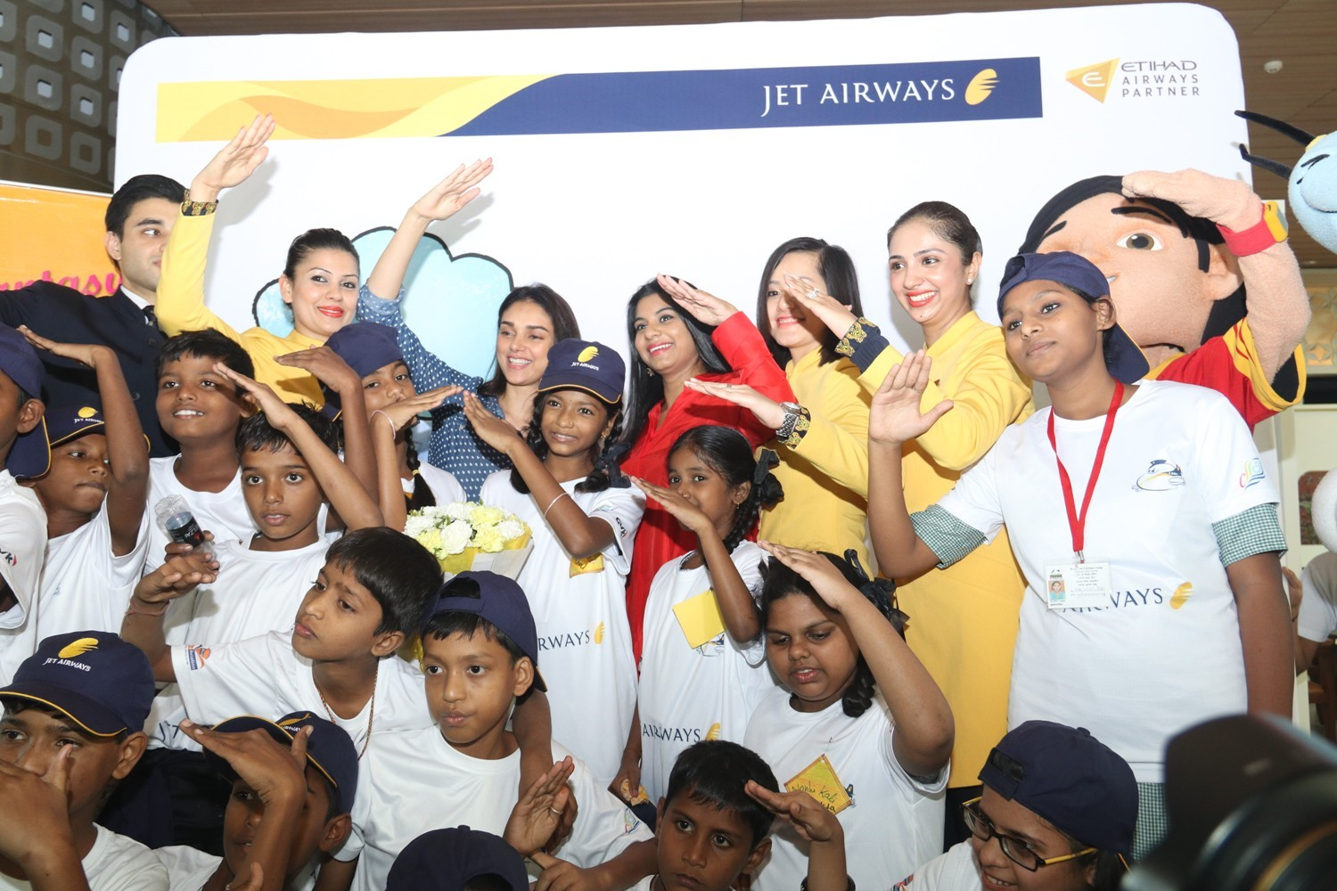 Jet Airways celebrated Children's Day by giving joy ride to more than 100 less privileged children