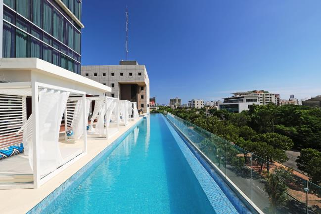 Property is located in the thriving business and entertainment center of the city