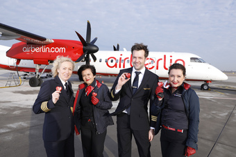 airberlin starts three times daily flights between Dusseldorf and Geneva