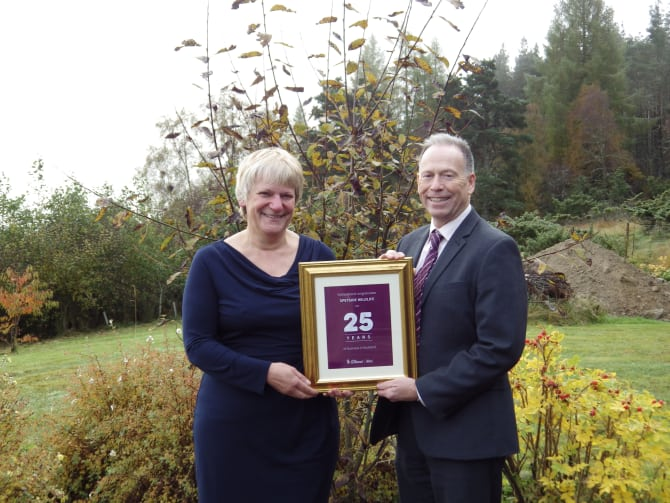 Sally Dowden is pictured with Scott Armstrong