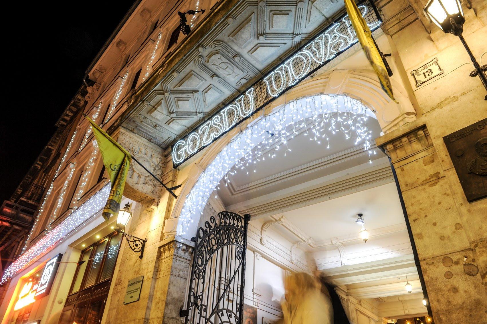 The highest density of nightlife in Europe Gozsdu Court Budapest