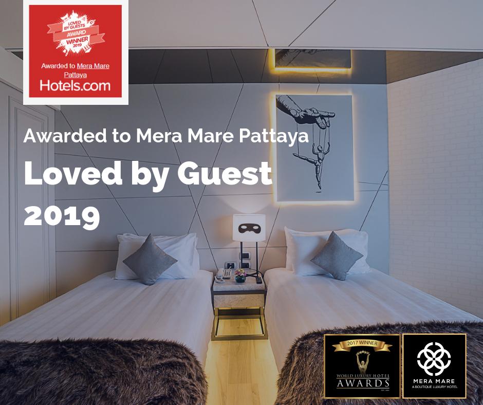 Mera Mare Pattaya wins Loved by Guest Award 2019
