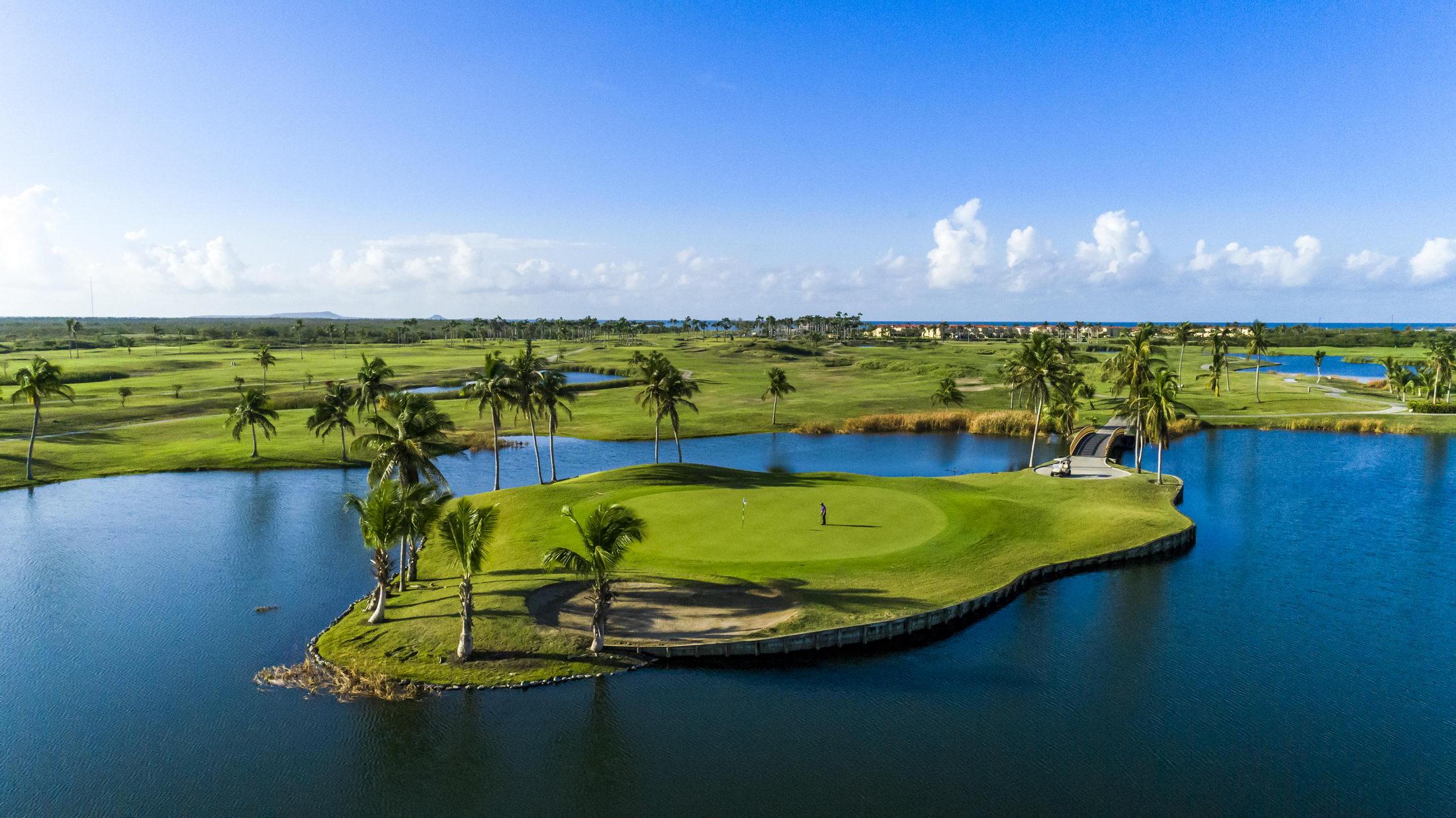 Golf course, resort, island green, puerto rico, casino, hotel, resort