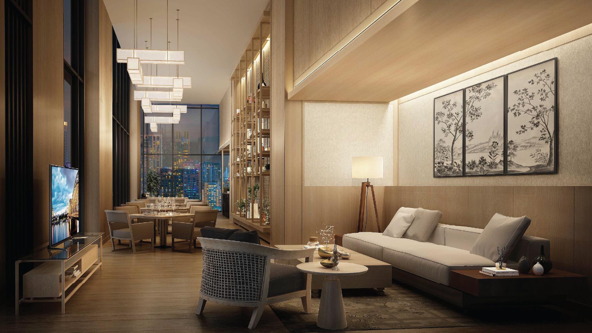 Oakwood Suites Bangkok Sky lounge