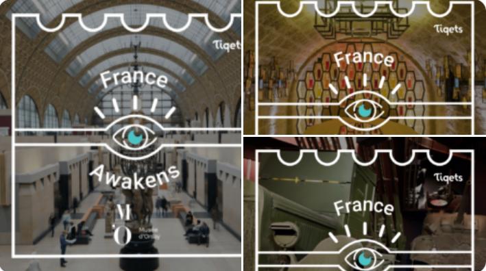 #FranceAwakens : une visite guidée du Panthéon, la découverte des #peintures #impressionnistes au Musée d'Orsay à Paris, un cours sur le #vin aux Caves du Louvre et une impressionnante exposition sur la Seconde Guerre mondiale au Mémorial de Caen