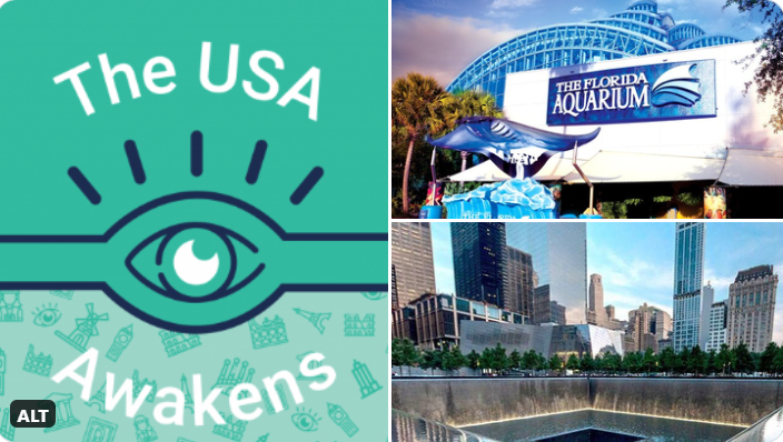 The US Awakens is the last week of a six-week program spanning six countries spotlighting a host of exclusive online and offline #activities from venues like Florida Aquarium, 9/11 Memorial & Museum, and the Museum of Ice Cream