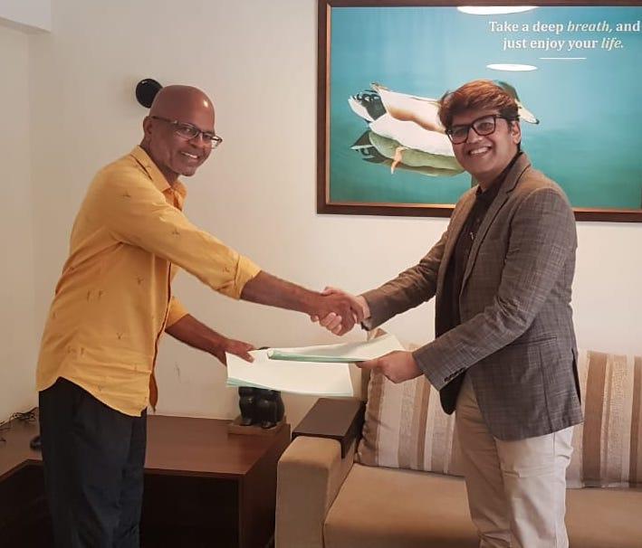 From left to right - Mr. Nitin Karambelkar & Mr. Sameer Dharkar