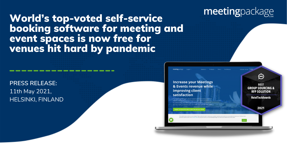 World's top-voted self-service booking software for meeting and event spaces is now free for venues hit hard by pandemic