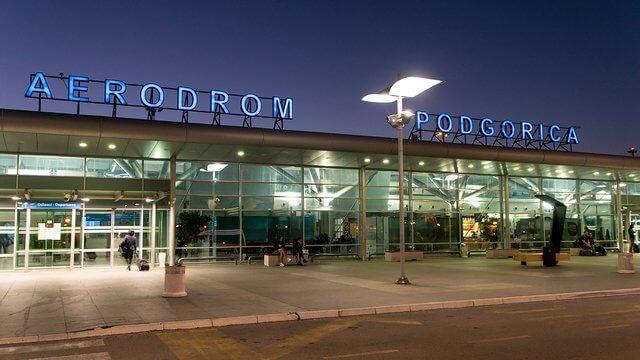 car rental at Podgorica airport in Montenegro