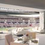 Rendering of the Pearl Lounge, top tier hospitality offering. Pearl Lounge Copyright 2021 MATCH Hospitality